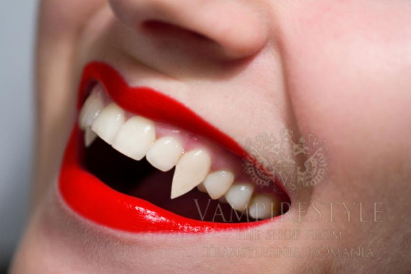 Girl Red Lips Wallpaper Vampire Teeth For Girls Great For Haloween Vampire