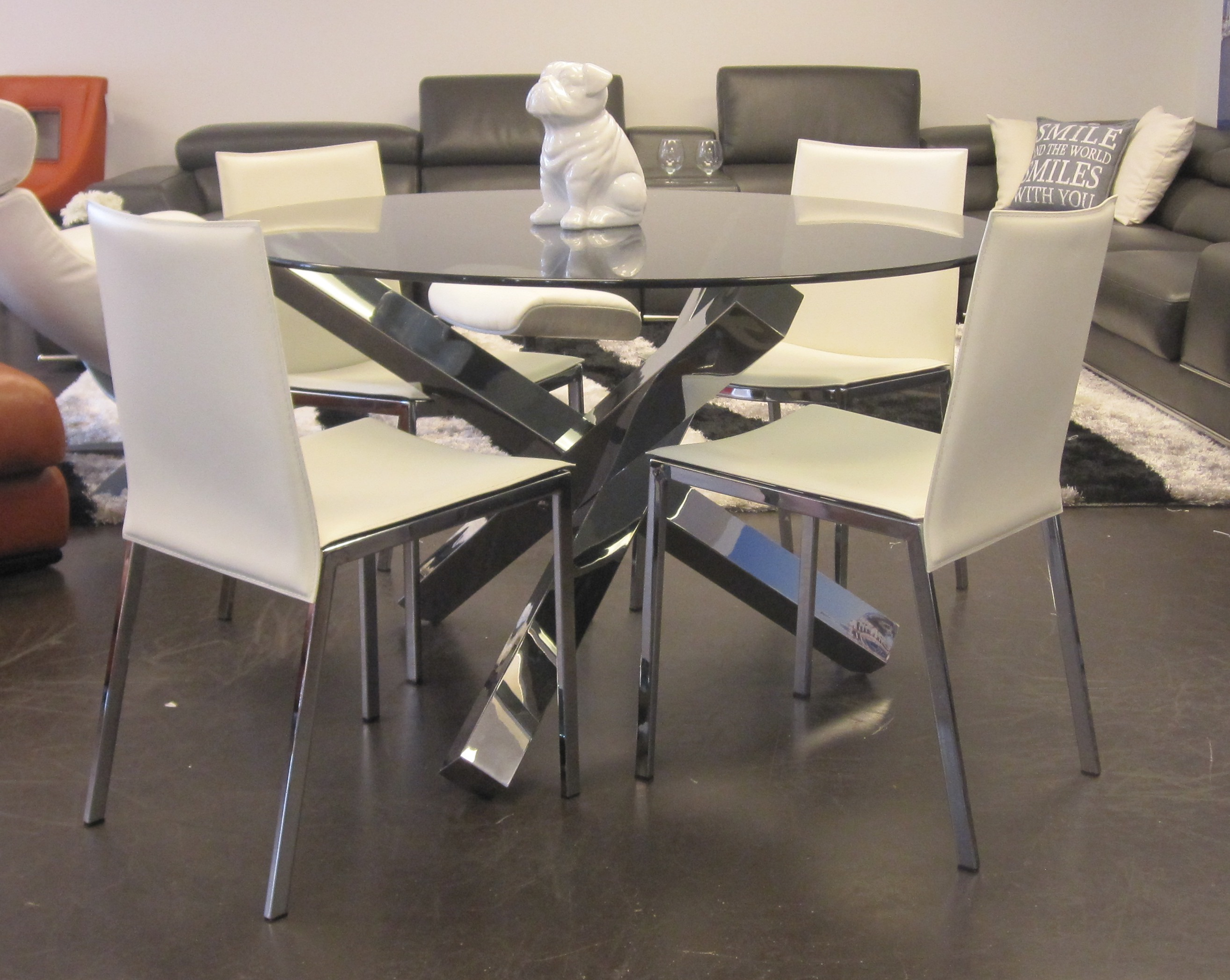 Modern Round Glass Dining Table Modern Round Glass Dining Table