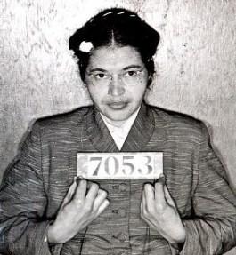Mugshot gemaakt kort na de arrestatie van Rosa Parks