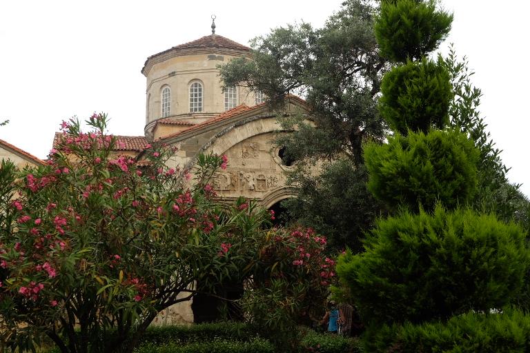 Byzantijnse kerk, later moskee in Trabzon