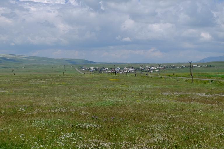 Verspreide dorpen op de hoogvlakte