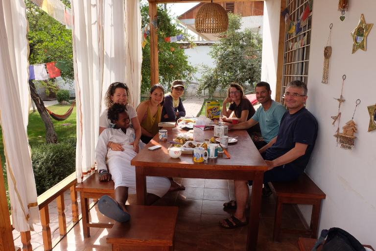 Bij Warmshowers host Véro in Dushanbe