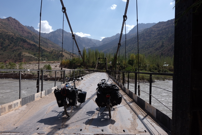 Het begin van het Pamir gebied