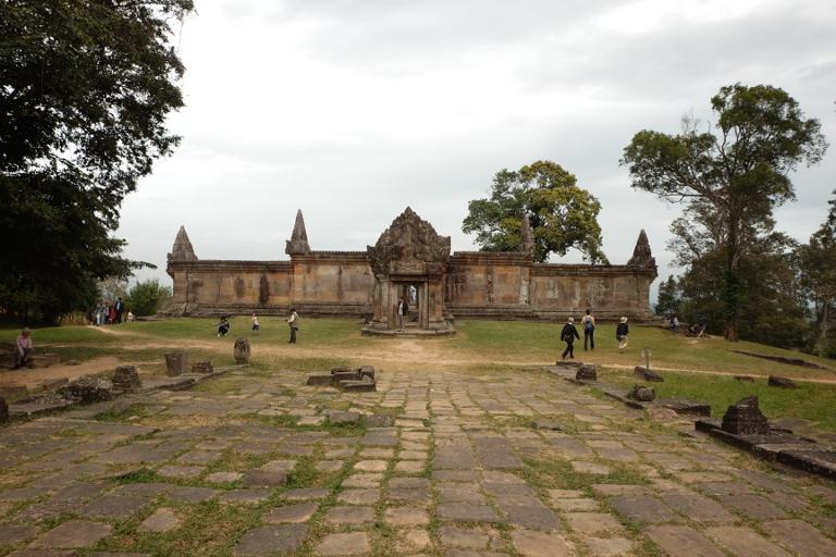 Preah Vihear, oude Hindoe tempel op de grens met (en ook geclaimd door) Thailand