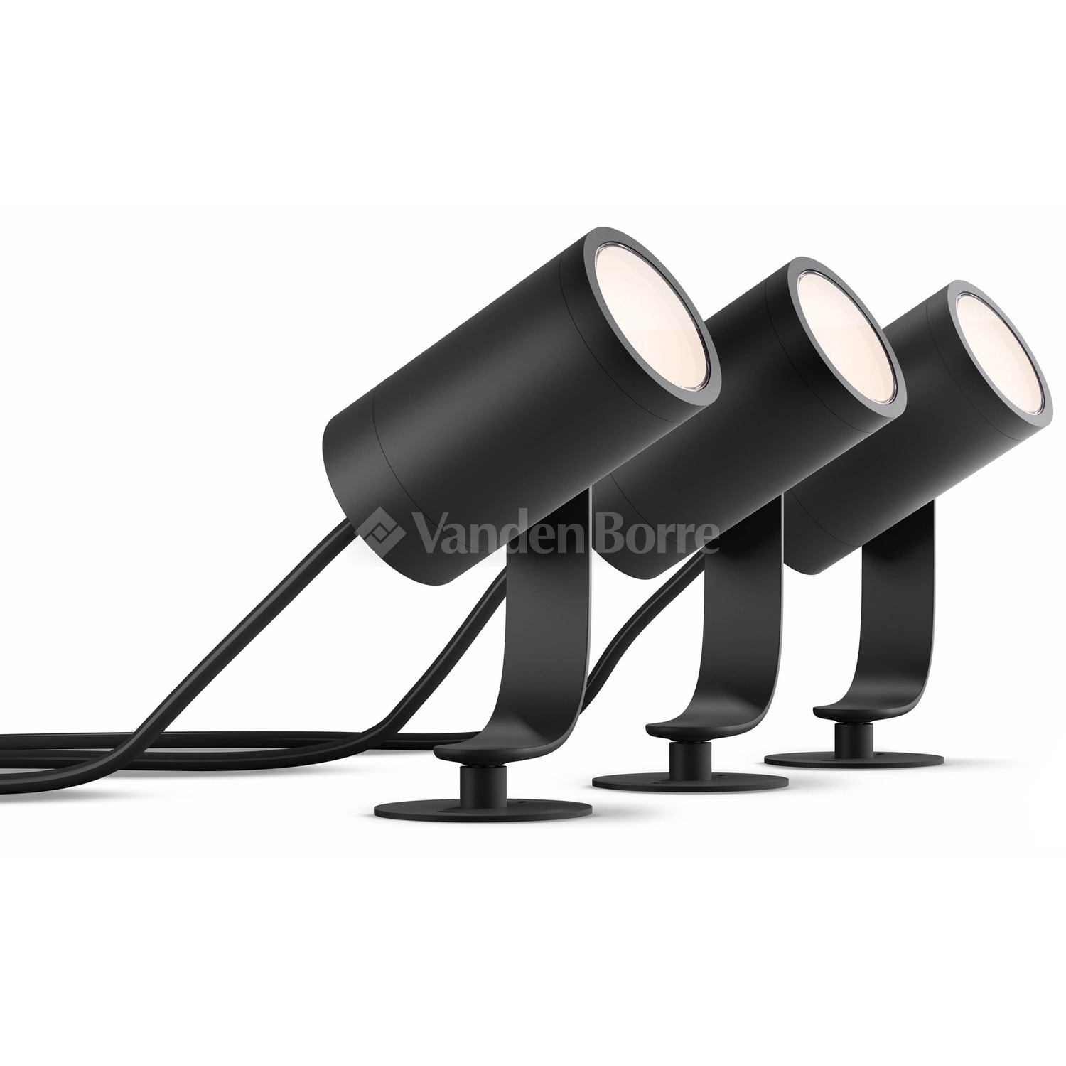 Mat Eclairage Exterieur Philips Philips Hue White Color Ambiance Lily Spike Black Base Unit