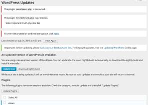 Update Page & Bulk Update Notice