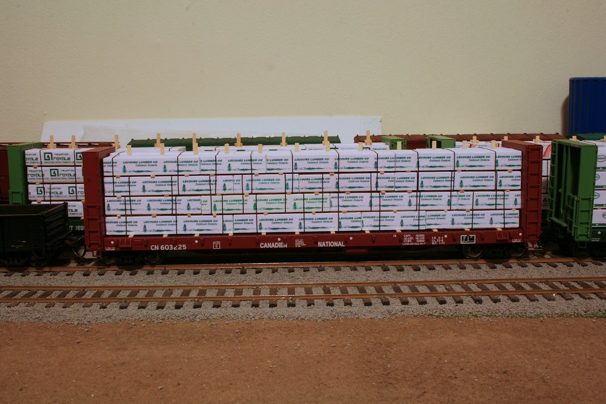 Recently Completed Lumber Loads Algoma Central In Ho Scale