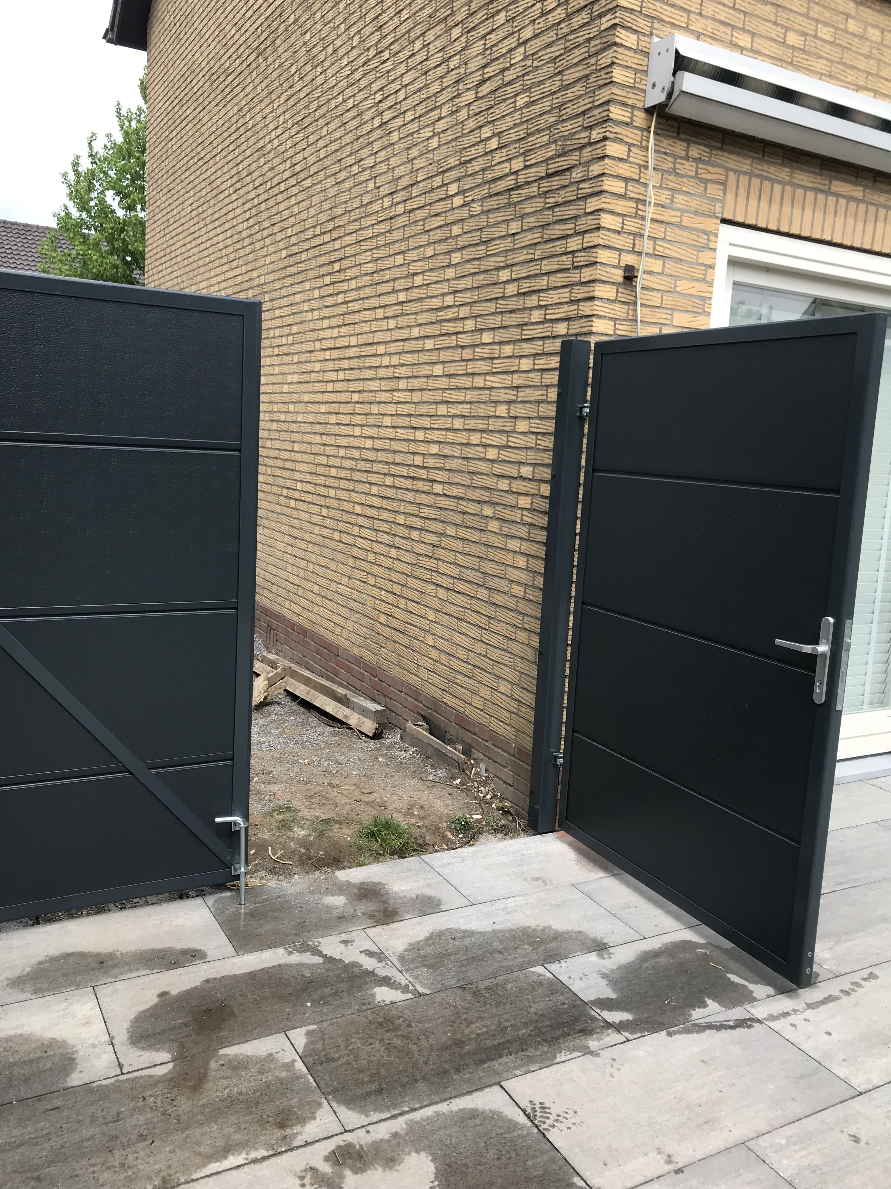 Dubbele Tuinpoort Tuin Poort Cool Bangkirai Belmonte Dubbele Tuinpoort Xcm With