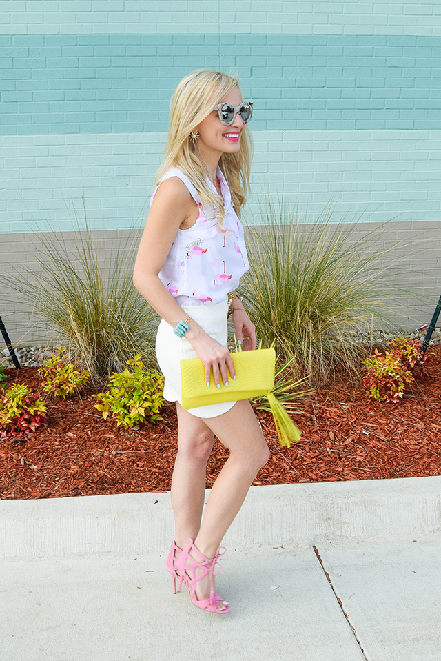 vandi-fair-lauren-vandiver-dallas-texas-southern-fashion-lifestyle-blogger-2-year-blogiversary-24-things-about-me-goodnight-macaron-pink-flamingo-shirt-topshop-white-scallop-mini-skirt-2