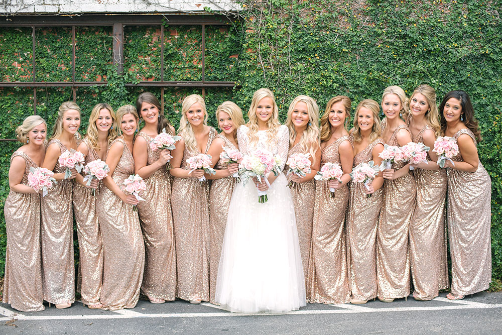 My bridal party looks a giveaway vandi fair for Dallas wedding dress rental