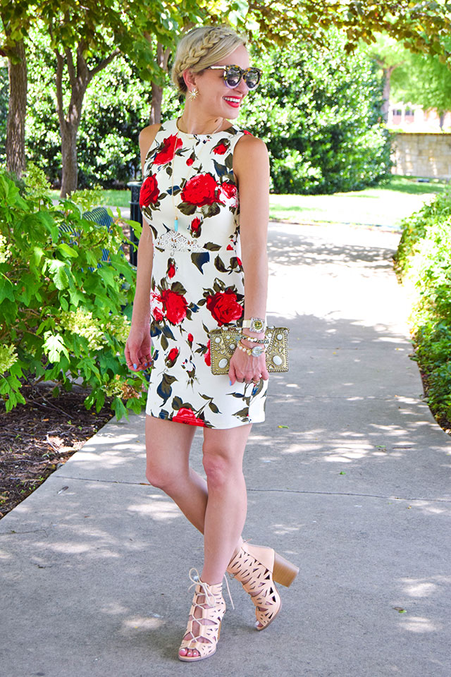 vandi-fair-blog-lauren-vandiver-dallas-texas-fashion-blogger-filly-flair-womens-online-boutique-breakfast-at-tiffanys-floral-red-rose-print-keyhole-dress-uptown-girl-lace-up-booties-1