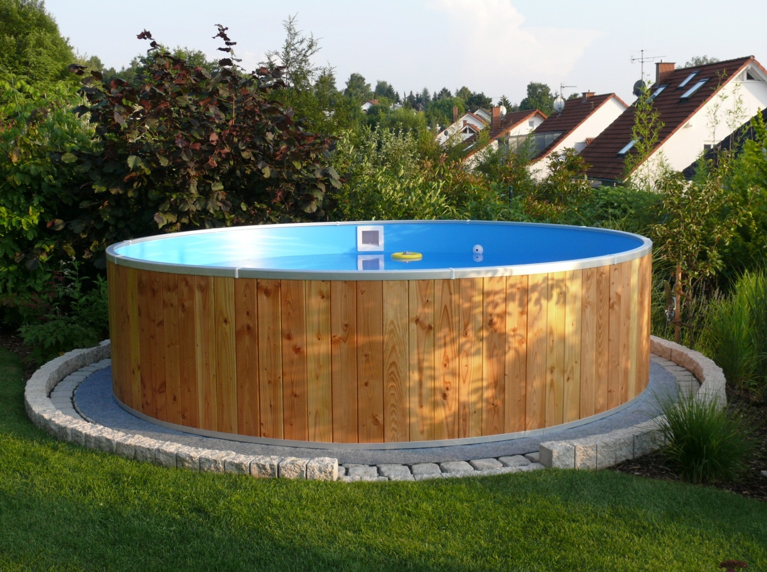 Pool Mit Paletten Verkleiden Rundbecken Fun Wood Set 3 Ebay