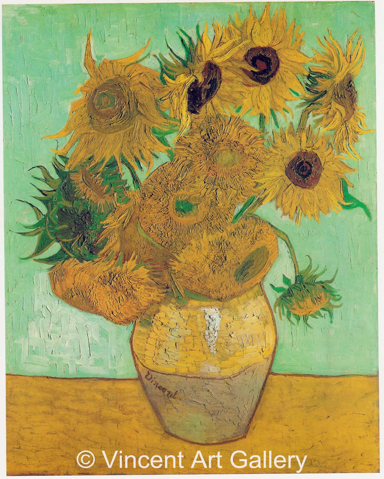 Vincent Van Gogh Paintings Sunflowers Still Life Vase With Twelve Sunflowers By Vincent Van