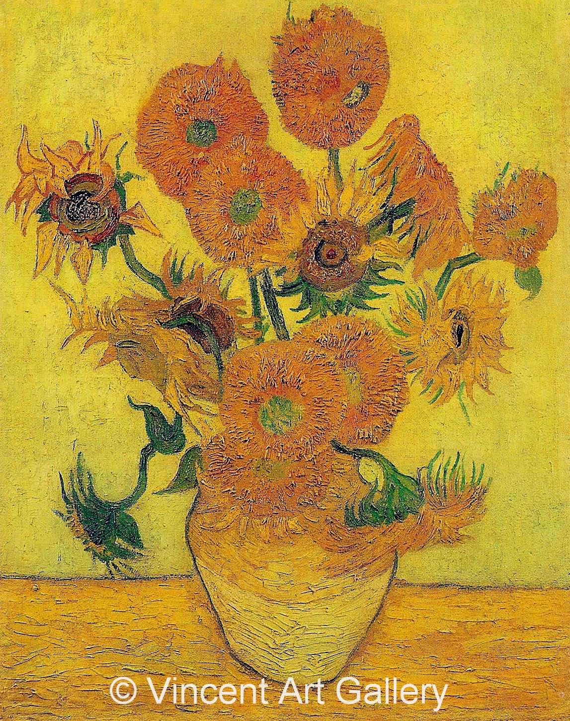 Vincent Van Gogh Paintings Sunflowers Still Life Vase With Fourteen Sunflowers By Vincent Van