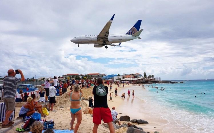 st martin famous plane landing KML - vanilla sky dreaming