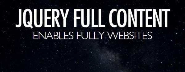 Full Content – Plug-In For Full Screen Single Page Sites