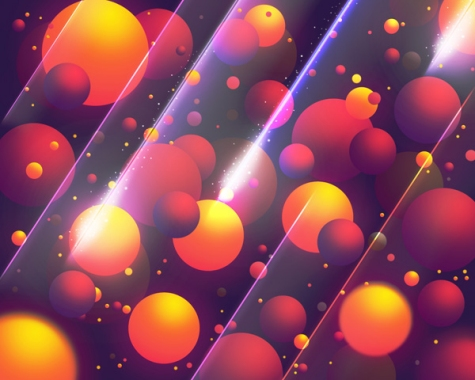 Create Abstract Colorful Balls Illustrations in Photoshop CS5