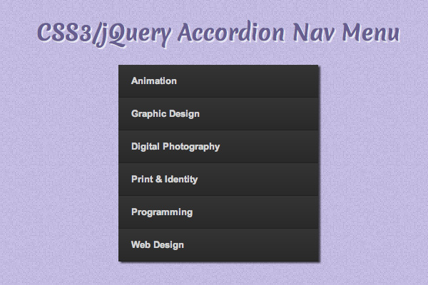 How To Code a Vertical Accordion Nav Menu with jQuery