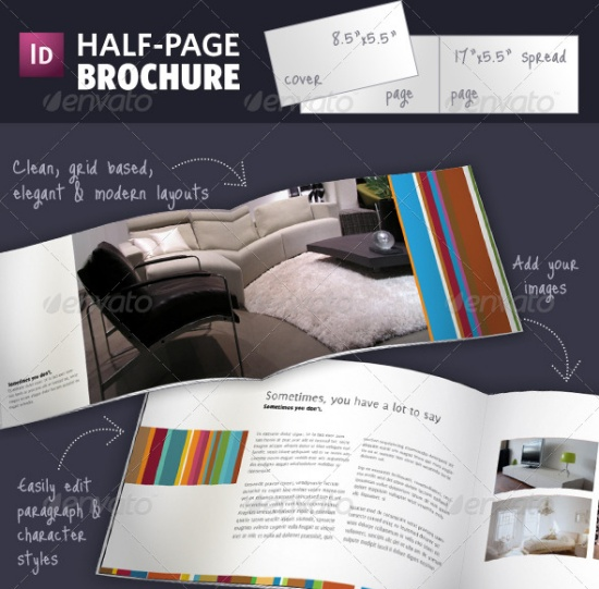 35 quality brochure templates vandelay design for Half page brochure template