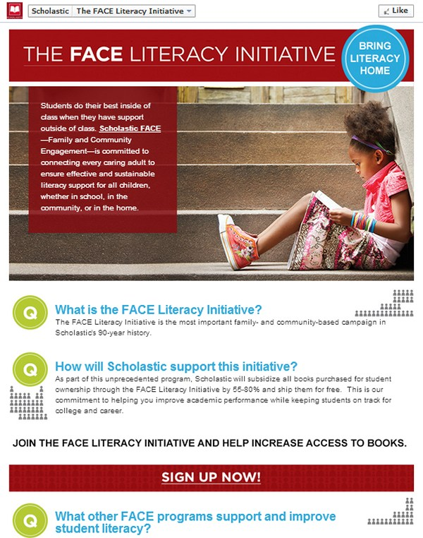 Scholastic - The Face Literacy Initiative