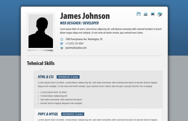 HTML Resume Templates to Help You Land a Job - fancy resume templates