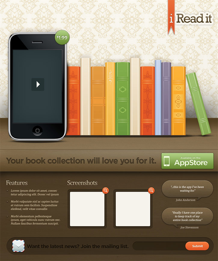 Create an Illustrative iPhone/iPad Landing Page in Photoshop
