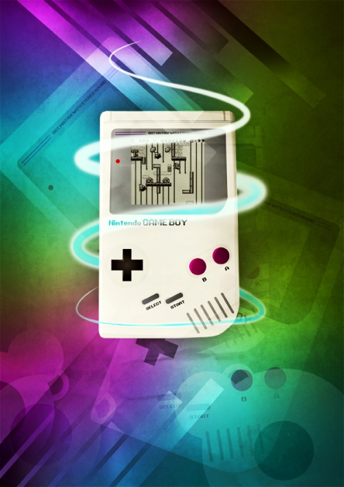 Design a Stylish Retro Gameboy Poster in Photoshop