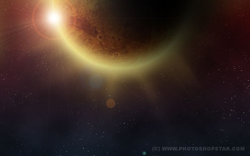 Recreating Solar Eclipse in Space