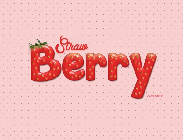 Strawberry-Inspired Text Effect