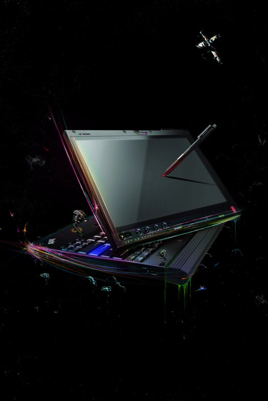 Design an Out of This World Laptop Advertisement