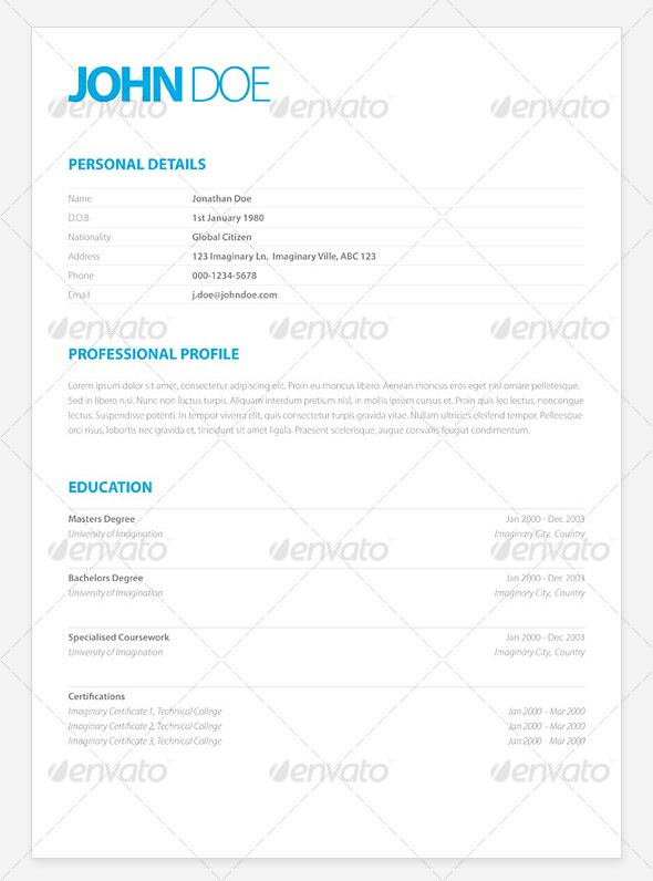clean resume layouts - Ozilalmanoof - clean resume template