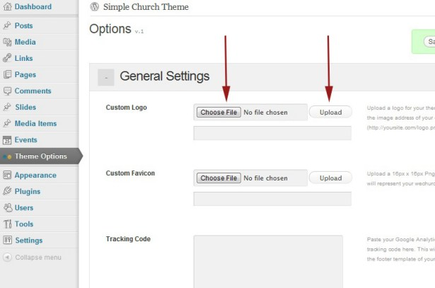 Documentation for Simple Church WordPress Theme