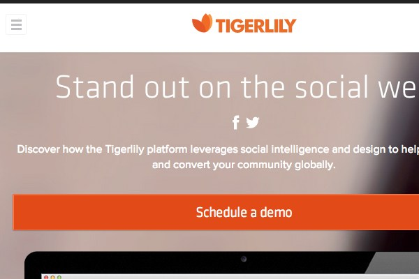 tigerlily navigation responsive homepage webdesign