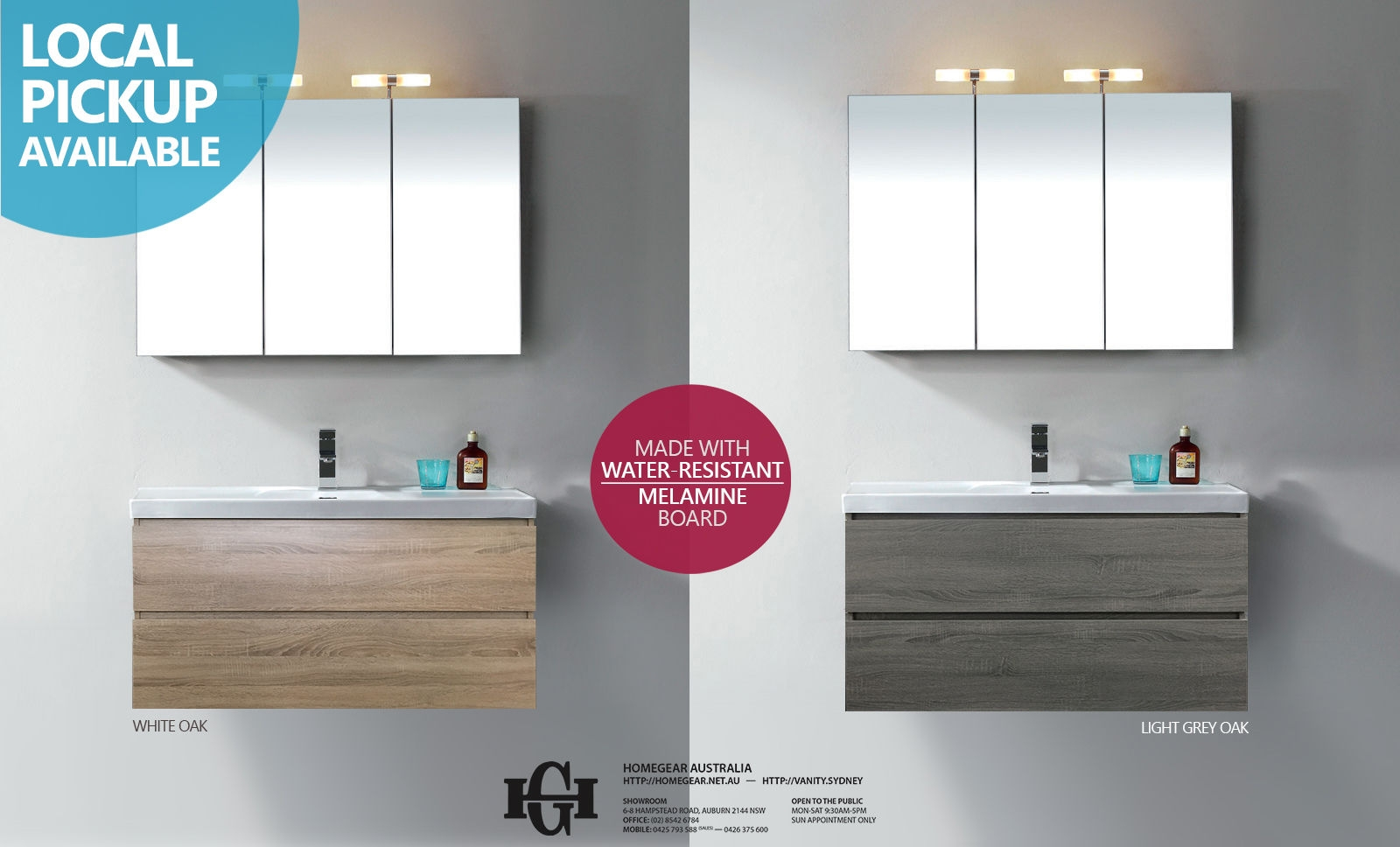 1200mm Bathroom Vanity Bogetta 1200mm Light Grey Oak Or White Oak Timber Wood