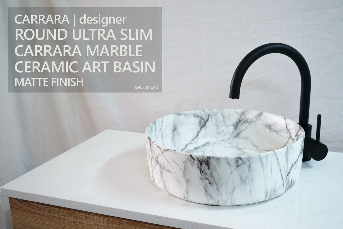 Marble Basin Carrara Round Carrara Marble Designer Above Counter Art Basin