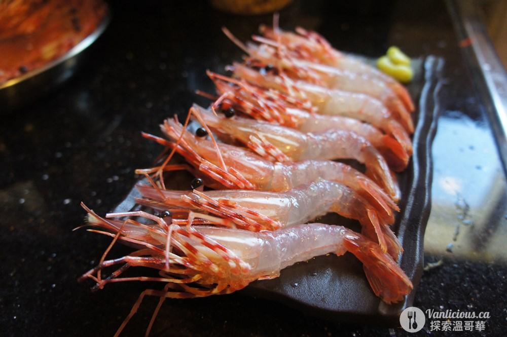 spot prawn sashimi 斑點蝦生魚片 spot prawn料理