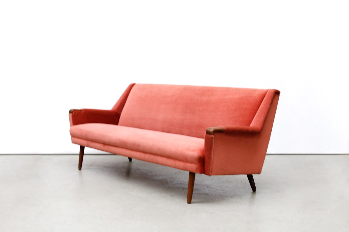 Bank Deens Design Vintage Oud Roze Deens Design Bank Sofa Van Ons