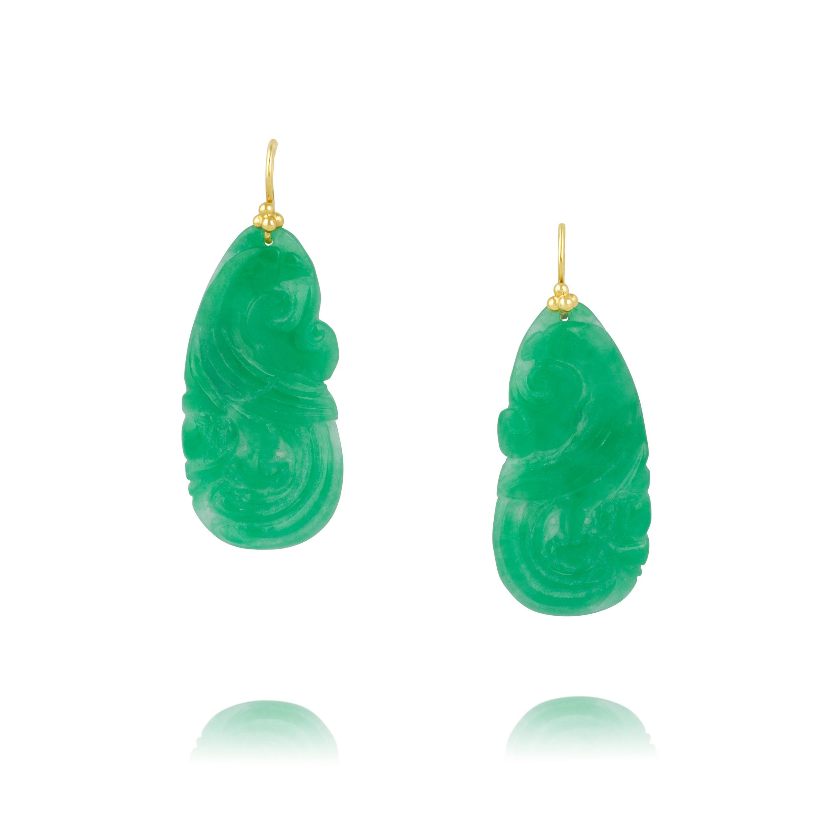 Jade Drop Earrings Kit Heath Earrings The Secret Garden