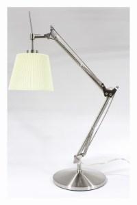 lighting lamp modern pleated shade spring arm adjustable ...