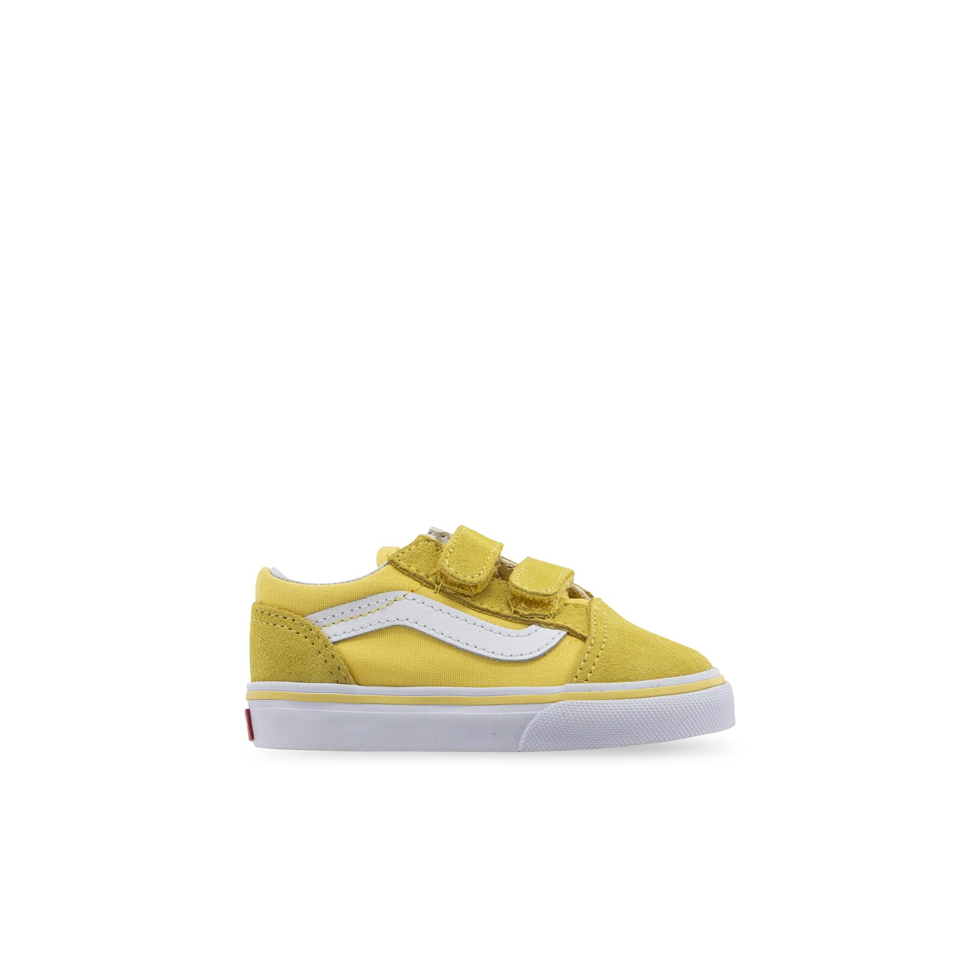 Newborn Shoes Vans Toddler Old Skool Velcro Aspen Gold