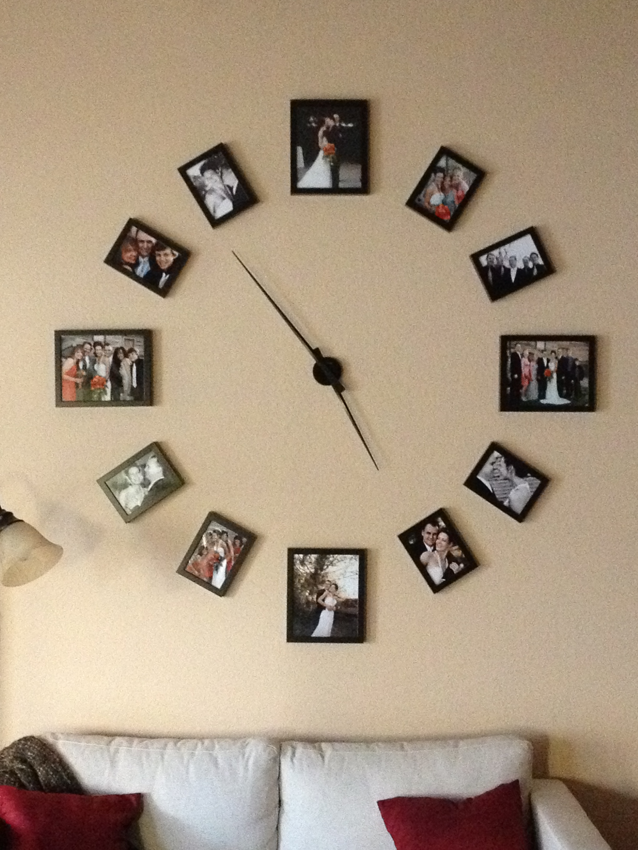 Cool Clock Hands Cool Wall Clock Photo Display