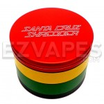 Santa Cruz Shredder 4 Piece Rasta Grinder Large 70mm