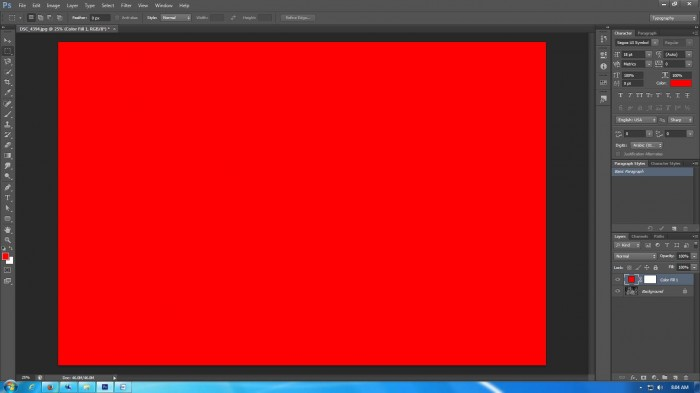 how to create a solid color background in photoshop