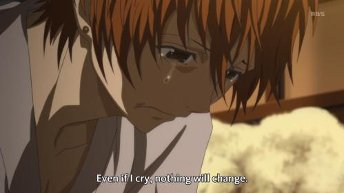 Crying takes the sad out of you, Yoshino.