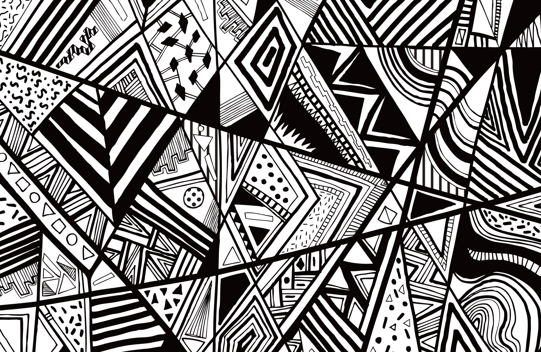Black And White Art Ideas Black White Abstract Pattern Vector Line Drawing Graphic
