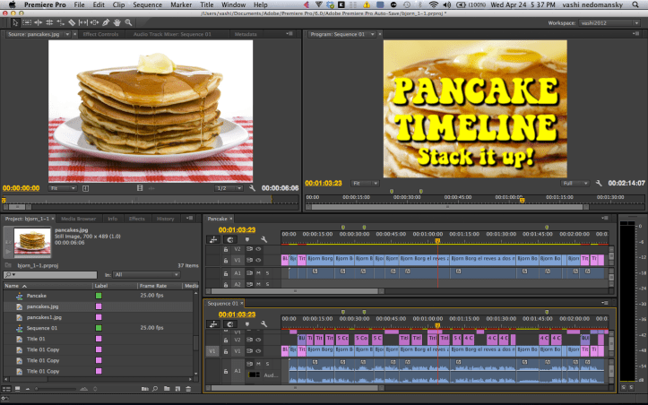 using the pancake timeline in premiere pro
