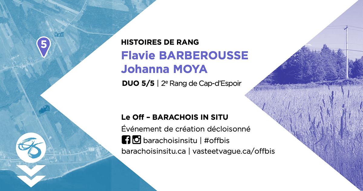 #offbis DUO 5/5   2e Rang de Cap-d'Espoir  HISTOIRE DE RANG   Flavie BARBEROUSSE et Johanna MOYA