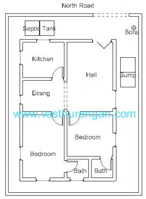 House plans with vastu north facing house design plans for House plan north facing