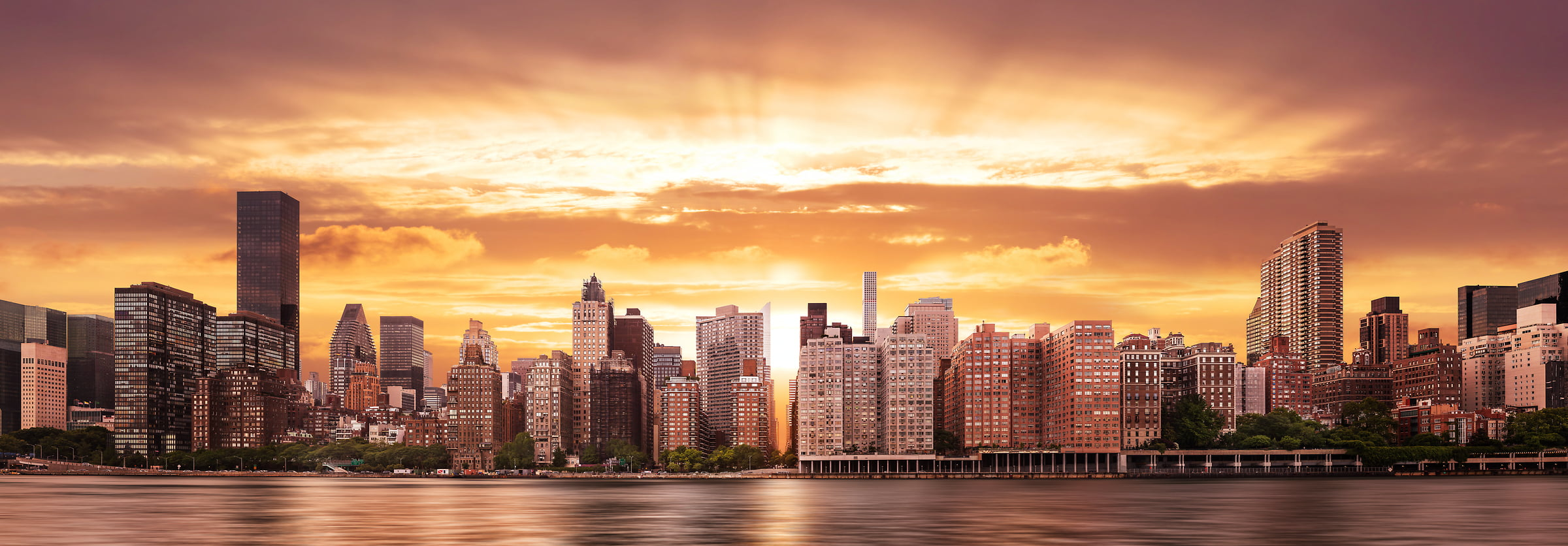 Bild New York Skyline New York Skyline Sunset Photos Large Format Fine Art