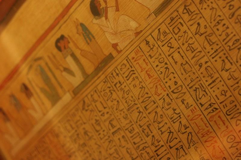 papyrus writing